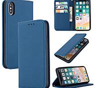 abordables -téléphone Coque Pour Apple Coque Intégrale iPhone 11 Pro Max SE 2020 X XR XS Max 8 7 6 Porte Carte Couleur Pleine Cuir véritable