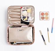 economico -Organizer per valigia Trousse da viaggio Borsa per cosmetica Multifunzione Massima capacità Ompermeabile Portatile Semplice Liscio pelle sintetica Nylon Per Uso quotidiano Viaggi Acetone Crema per le
