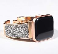 economico -Cinturino intelligente per Apple  iWatch 1 pcs Stile dei gioielli Acciaio inossidabile Sostituzione Custodia con cinturino a strappo per Apple Watch Serie SE / 6/5/4/3/2/1 38 millimetri 40 mm 42
