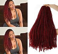 abordables -Dreadlocks Faux Locs Nu Locs Box Braids Couleur naturelle Cheveux Synthétiques Rajouts de Tresses 4 Pièces