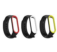 abordables -3 pièces Bracelet de Montre  pour Xiaomi Bande de sport Silikon Sangle de Poignet pour Mi Band 3 Xiaomi Mi Band 4