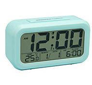 economico -sveglia digitale a batteria, luce notturna con sensore intelligente, data, snooze, temperatura, commutabile 12/24 ore, funzionamento semplice, per bambini / dormienti pesanti / camera da letto /