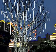 economico -pioggia di meteoriti all'aperto 16 tubi luci stringa led 50 cm 30 cm impermeabile per la decorazione della festa nuziale di natale 220-240 v