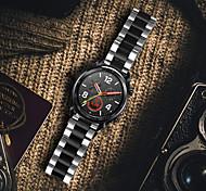 abordables -1 pièces Bracelet de Montre  pour Huawei Bande d'affaires Acier Inoxydable Sangle de Poignet pour Montre Huawei GT Watch 2 Pro Honneur à la magie Montre Huawei GT 2