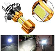 abordables -2 pcs moto H4 18 W LED 3 épis moto phare ampoule 2000lm BA20D faisceau lumière antibrouillard
