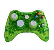 voordelige -gh8651 xbox 360 controller draadloze headset voor microsoft xbox 360-console& pc windows7 / 8/10 - transparante shell sleutel verbetering drie mode verblindende led