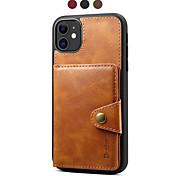 economico -telefono Custodia Per Apple Per retro Custodia in pelle iPhone 12 Pro Max 11 SE 2020 X XR XS Max 8 7 Porta-carte di credito A calamita Tinta unica pelle sintetica TPU