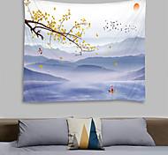 abordables -peinture à l'encre de Chine style tapisserie murale art décor couverture rideau suspendu maison chambre salon décoration paysage montagne fleur floral bateau oiseau