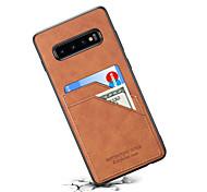 economico -telefono Custodia Per Samsung Galaxy Per retro Custodia in pelle Nota 9 S10 Galaxy S10 E Galaxy S10 5G Note 10 Note 10 + Porta-carte di credito Tinta unica pelle sintetica PC