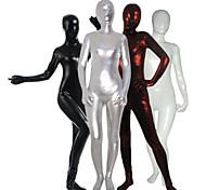 abordables -Costumes zentai brillants Combinaison-pantalon Costume de peau Ninja Adulte Spandex Latex Costumes de Cosplay Genre Homme Femme Couleur Pleine Halloween / Collant / Combinaison / Costume Zentai