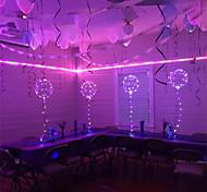 abordables -6pcs led lumineux led ballon transparent bulle ronde décoration anniversaire fête mariage décoration led ballons cadeau de noël