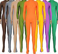 abordables -Combinaison Morphsuit Combinaison-pantalon Costume de peau Ninja Adulte Spandex Lycra Costumes de Cosplay Genre Homme Femme Couleur Pleine Halloween / Collant / Combinaison / Costume Zentai