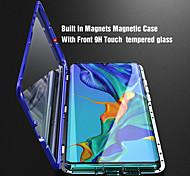 economico -telefono Custodia Per Huawei Integrale Custodia ad adsorbimento magnetico Huawei P20 Huawei P20 Pro Huawei P20 lite Huawei P30 Huawei P30 Pro Huawei P30 Lite Con chiusura magnetica A calamita Doppia