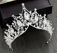 economico -diademi della lega del rhinestone della corona della principessa della regina di lusso con il copricapo di cerimonia nuziale di 1 pezzo del rhinestone di cristallo
