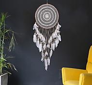 abordables -Boho dream catcher cadeau fait à la main tenture murale décor art ornement artisanat plume 40 * 120 cm pour enfants chambre festival de mariage