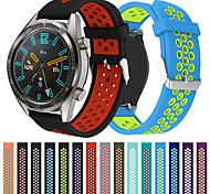abordables -Bracelet de montre connectée pour Huawei 1 pcs Bracelet Sport Boucle Classique Silicone Remplacement Sangle de Poignet pour Montre Huawei GT Watch 2 Pro Honneur à la magie Montre Huawei GT 2