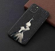 abordables -étui pour apple iphone 11/11 pro / 11 pro max dépoli / motif couverture arrière fille étoile tpu pour iphone 6 / 6s plus / 7/7 plus / 8/8 plus / x / xs / xr / xs max