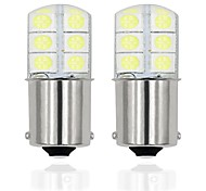 abordables -2pcs / lot 1156 p21w led ba15s led 5050 12smd voiture led ampoules lampe pour clignotants lumière de frein lumière aucune erreur 12v