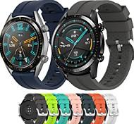 economico -Cinturino intelligente per Huawei 1 pcs Cinturino sportivo Chiusura classica Chiusura moderna Silicone Sostituzione Custodia con cinturino a strappo per Huawei Watch GT Huawei Watch GT 2 22mm