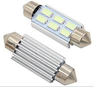abordables -2pcs feston canbus 31mm 36mm 39mm 41mm c5w led sans erreur 5630 5730 6 led smd lecture intérieure blanc glace bleu ampoules dôme lampes 12v