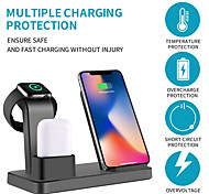 abordables -chargeur sans fil multifonction 3 en 1 iphone iwatch air pods station de charge rapide pro dock sans fil pour apple iphone 12 pro 11 xs max xr / iwatch 6 5 4 3 / samsung s21ultra s20plus xiaomi