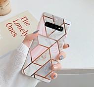 economico -telefono Custodia Per Samsung Galaxy Per retro S9 S9 Plus S8 Plus S8 S10 S10 + Galaxy S10 E Placcato IMD Fantasia / disegno Effetto marmo TPU