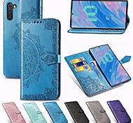 economico -telefono Custodia Per Samsung Galaxy Integrale Custodia in pelle Porta carte di credito Nota 9 Nota 8 Galaxy Note 10 Note 10 + A portafoglio Porta-carte di credito Con supporto Fiore decorativo pelle