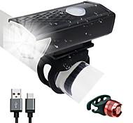 abordables -LED Eclairage de Velo Eclairage de Vélo Avant LED Vélo Cyclisme Imperméable Rotation à 360 ° Batterie rechargeable 300 lm Alimenté par Port USB Cyclisme