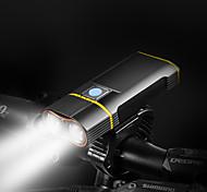 economico -LED Luci bici Luce frontale per bici LED Bicicletta Ciclismo Impermeabile Ruotabile Solare 1200 lm Batteria ricaricabile Bianco Ciclismo / Rotazione a 360° / Lega d'alluminio