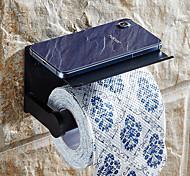 abordables -Porte-papier hygiénique avec étagère en alliage d'aluminium créatif moderne en aluminium 1 pc fixé au mur pour support de distributeur de stockage de téléphone portable