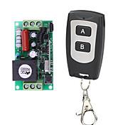 economico -ac220v 1ch interruttore di controllo remoto intelligente / ricevitore ak-cxax-1a 10a con chiave di apprendimento / telecomando impermeabile a 2 pulsanti / 433mhz