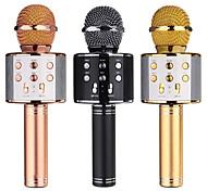 abordables -ws858 microphone bluetooth sans fil karaoké usb lecteur ktv lecteur de téléphone portable microphone haut-parleur enregistrer de la musique