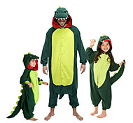 abordables -Enfant Pyjama Kigurumi Dinosaure Animal Combinaison de Pyjamas Toison Flanelle Rouge / Vert Cosplay Pour Garçons et filles Pyjamas Animale Dessin animé Fête / Célébration Les costumes