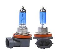 abordables -2pcs voiture lumière h8 h11 auto halogène lampe ampoule feux de brouillard 55w 100w 12v super blanc phares lampe