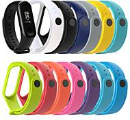 economico -Cinturino intelligente per Xiaomi 1 pcs Cinturino di pelle Silicone Sostituzione Custodia con cinturino a strappo per Mi Band 3 Xiaomi Mi Band 4