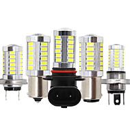 abordables -2pcs voiture h8 h11 led 9005 hb3 9006 hb4 h4 h7 p13w h16 5630 33smd lampe de brouillard feux diurnes ampoule tournant ampoule de stationnement 12v
