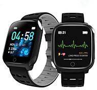 economico -f16 braccialetto intelligente fascia ecg frequenza cardiaca pressione sanguigna ossigeno nel sangue monitoraggio del sonno fitness tracker orologio intelligente impermeabile