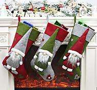 economico -decorazioni natalizie calze da bambola senza volto borsa regalo albero di natale regalo pendente uomo anziano