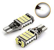 abordables -t15 super lumineux 45 smd 4014 led canbus aucune erreur voiture queue ampoule de frein feux de recul automatique sauvegarde lampe dôme lumière xénon blanc 2pcs