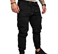 economico -pantaloni da jogging da uomo pantaloni chino di base pantaloni sportivi streetwear pantaloni a tinta unita a figura intera nero verde militare kaki grigio chiaro grigio scuro