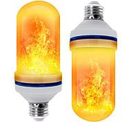 economico -3pcs 2pcs lampadina decorativa effetto fiamma led led luce fiamma dinamica e27 lampadina creativa mais effetto simulazione fiamma luce notturna