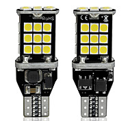 abordables -2pc w16w led t15 voiture canbus led lumières 3030 30 smd led 6000k auto led blanc feu de freinage sauvegarde sauvegarde lumières 12v