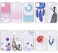 economico -telefono Custodia Per Apple Per retro iPhone 12 Pro Max 11 SE 2020 X XR XS Max 8 7 6 Transparente Fantasia / disegno Farfalla TPU