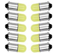 abordables -10pcs ba9s t4w 363 1895 233 super lumineux rond 3d épi conduit pur blanc plaque d'immatriculation de voiture ampoule auto lampe marqueur lumière dc 12v