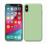 abordables -étui en silicone pour apple iphone 11 liquide protection totale du corps en silicone iphone 11 pro couverture antichoc solide gel multicouche gel de silice iphone 7 / iphone x / iphone 8