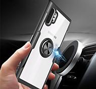 economico -telefono Custodia Per Samsung Galaxy Per retro Nota 9 Note 10 Note 10 + Resistente agli urti Con supporto Tinta unica TPU PC Metallo