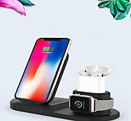 abordables -Chargeur sans fil multifonction 3 en 1 pour airpods / iphone 11/11 pro / xr / xs / 8/8 plus et apple watch series