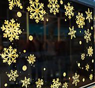 abordables -2020 nouvel an noël bricolage fenêtre autocollants maison centre commercial neige dorée joyeux noël verre fenêtre autocollant mural stickers 60 * 45 cm