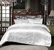 abordables -Vente chaude maison literie ensemble jacquard housse de couette ensemble 3 pcs literie luxueuse literie reine roi taille lit ensembles blanc sans drap