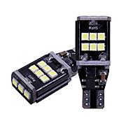 abordables -2pcs / lot t15 w16w 921 912 lumières de réserve 3030 led 15 smd voiture sauvegarde ampoule lampe arrière canbus 12v aucune erreur obc 6500k blanc